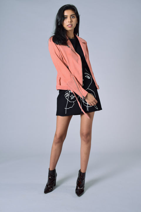 AS by DF Pink Suede Jacket NWT Size S