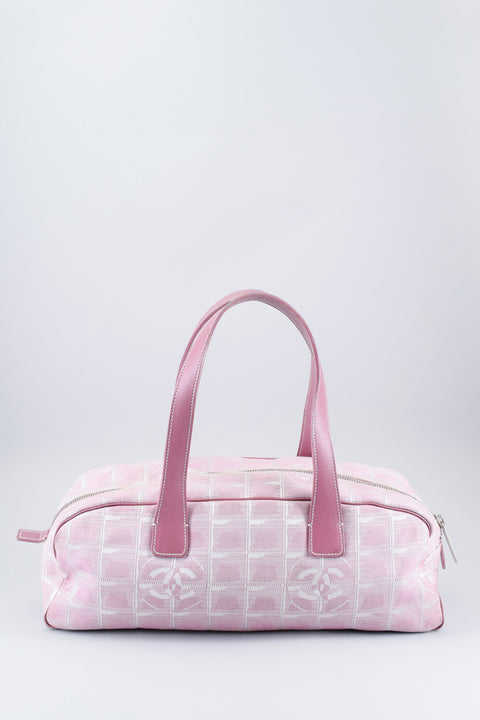Chanel Vintage Pink Travel Ligne Bowler Bag