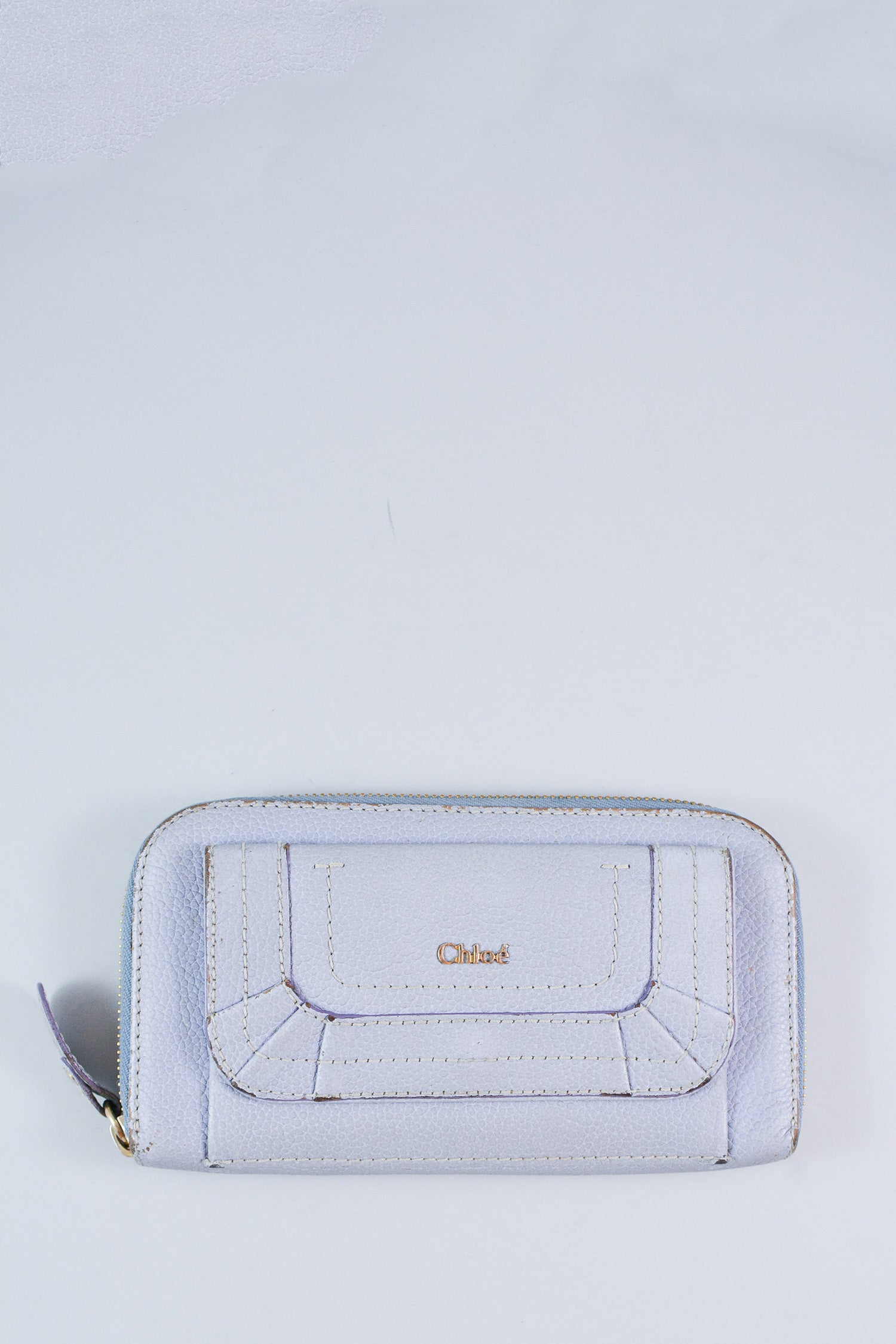 Chloe Purple Zipped Wallet
