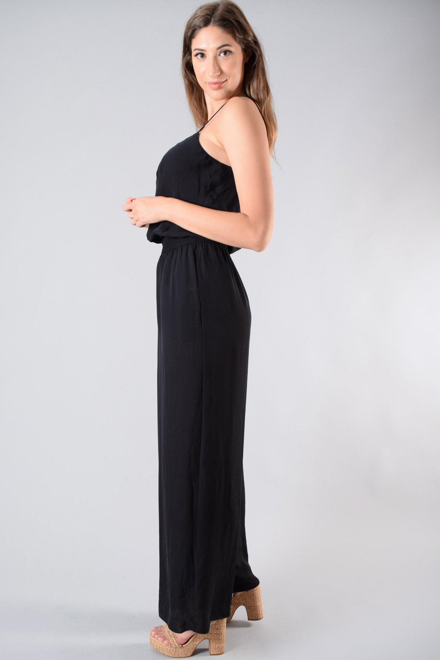 Theory Black Sleeveless Jumpsuit Size M