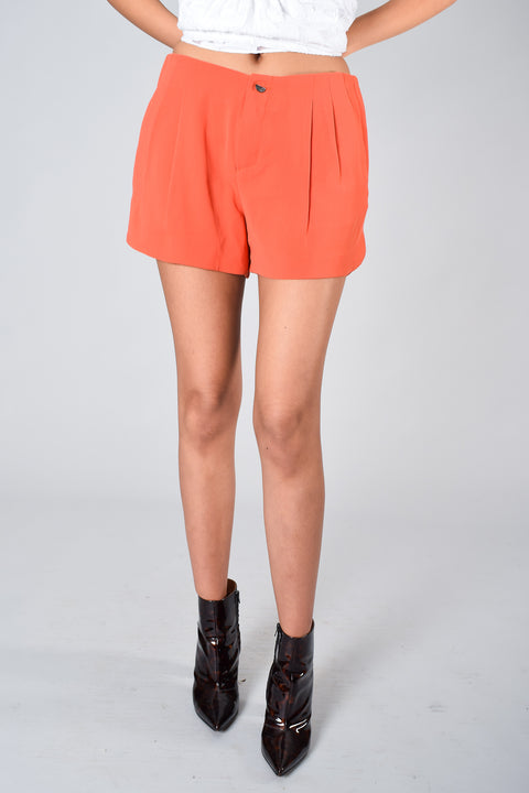 Rag and Bone Orange Crepe Shorts Size 4.