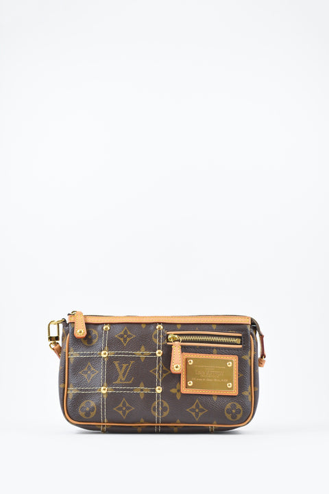 Louis Vuitton Monogram Pochette w/ Stitching Details