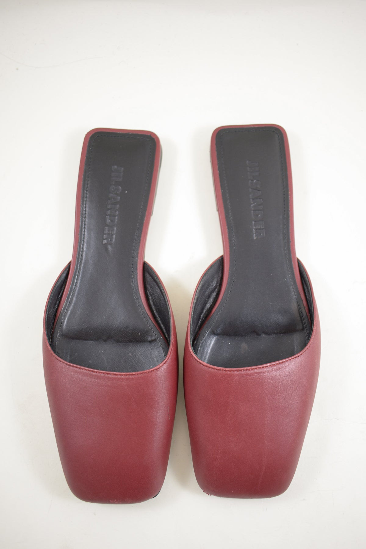 Jil Sander Red Slides Sz 36