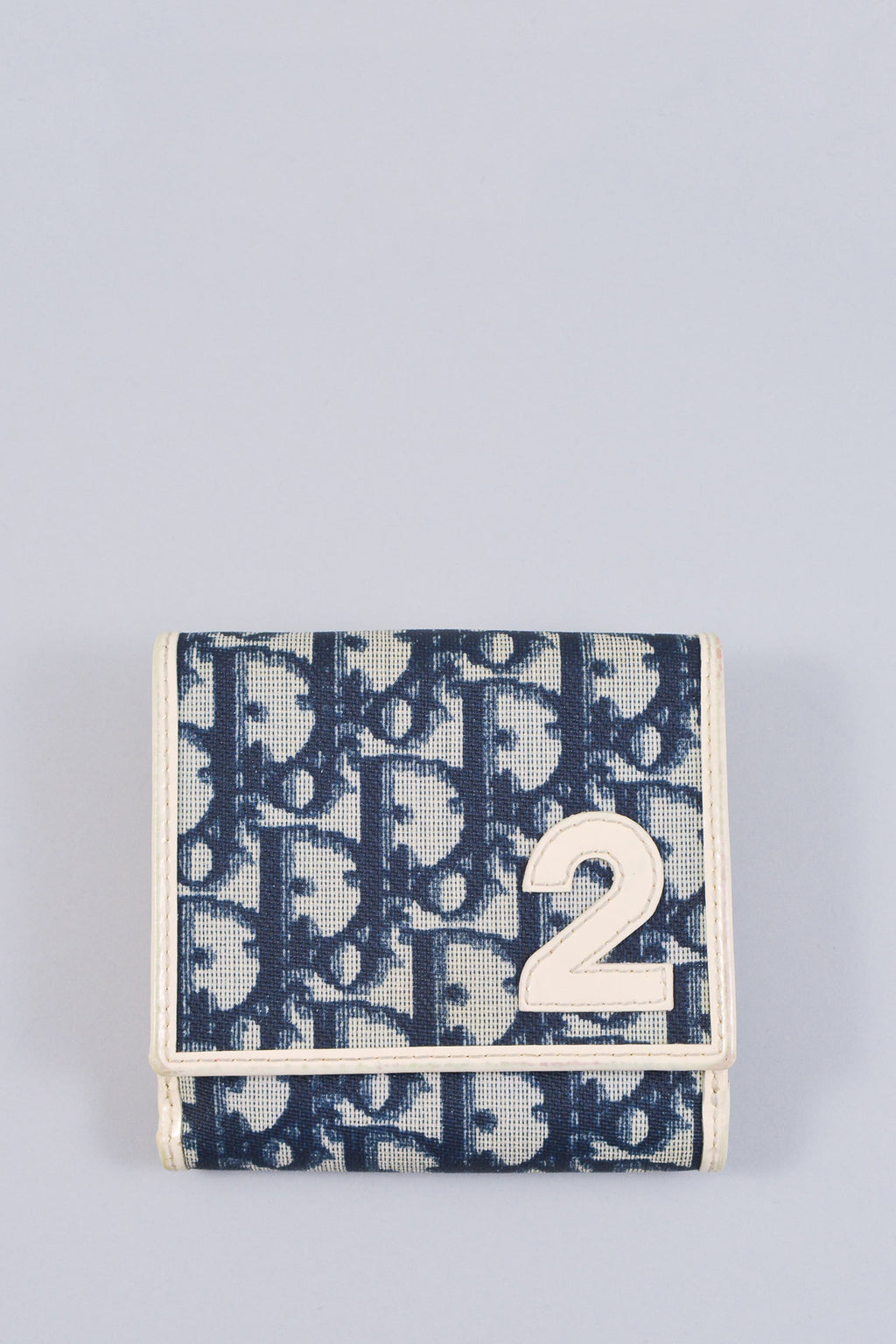 Dior Blue and White Diorissimo Wallet