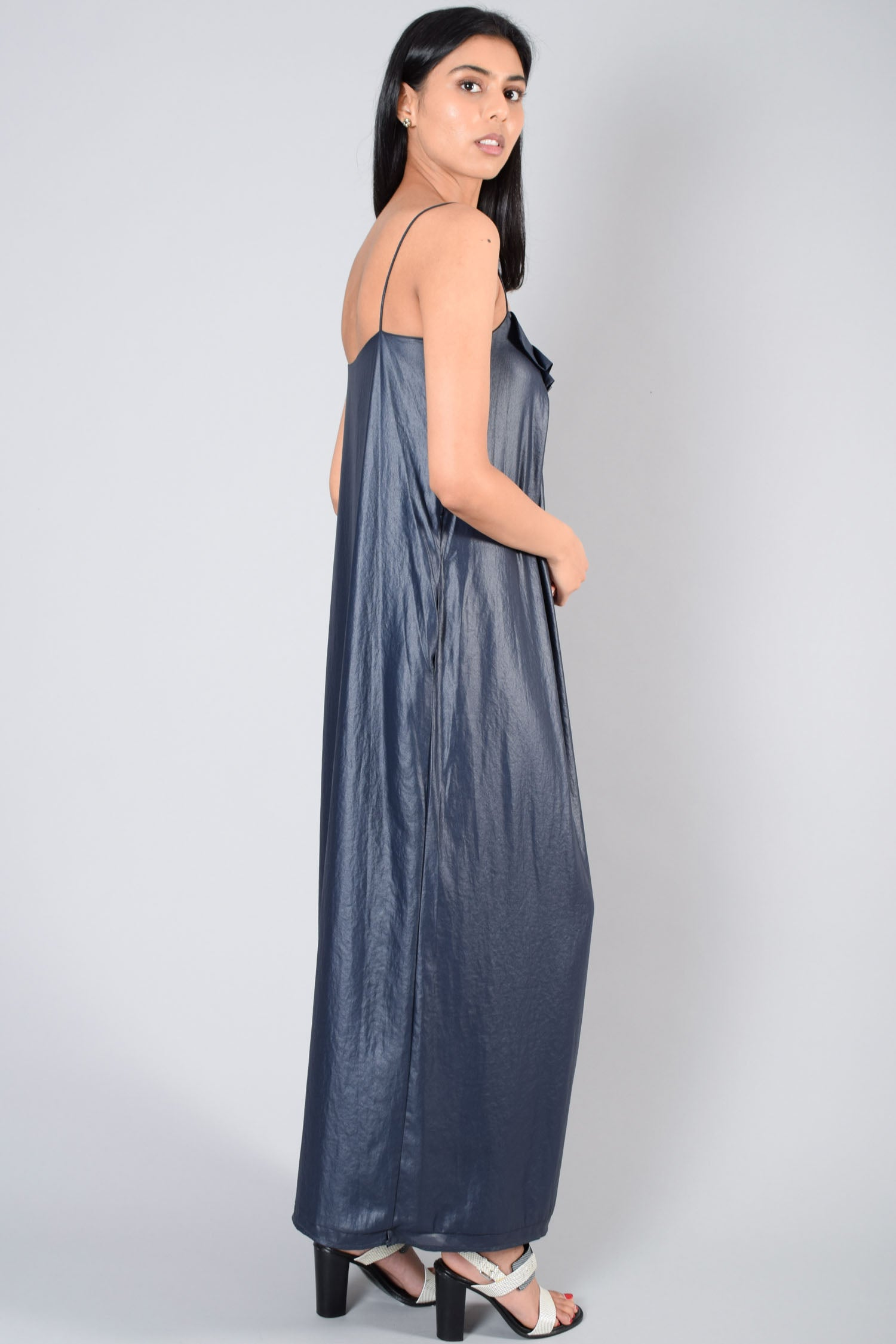 L'Agence Navy Sleeveless Maxi Dress Size 1