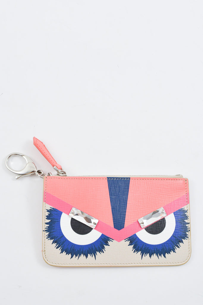 Fendi Monster Leather Key Ring Pouch
