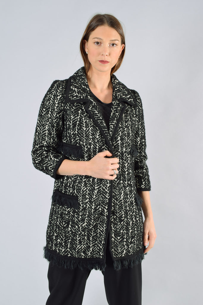 Anna Sui Black & White Coat Size 2