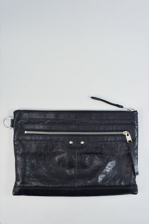 Balenciaga Black Leather Pouch