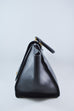 Celine Black Embossed Leather Large Trapeze Bag