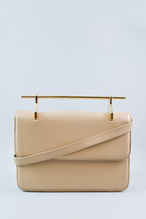 M2MALLETIER Cream Leather Fabricca Shoulder Bag