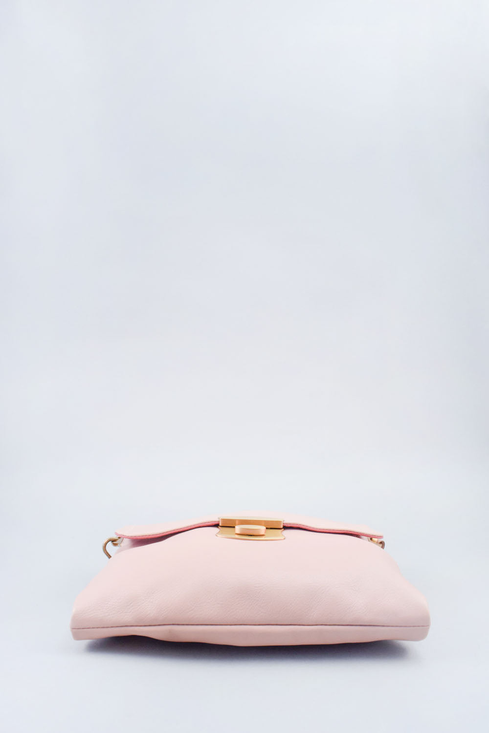 Prada Pink Leather Shoulder Bag w/ Chain