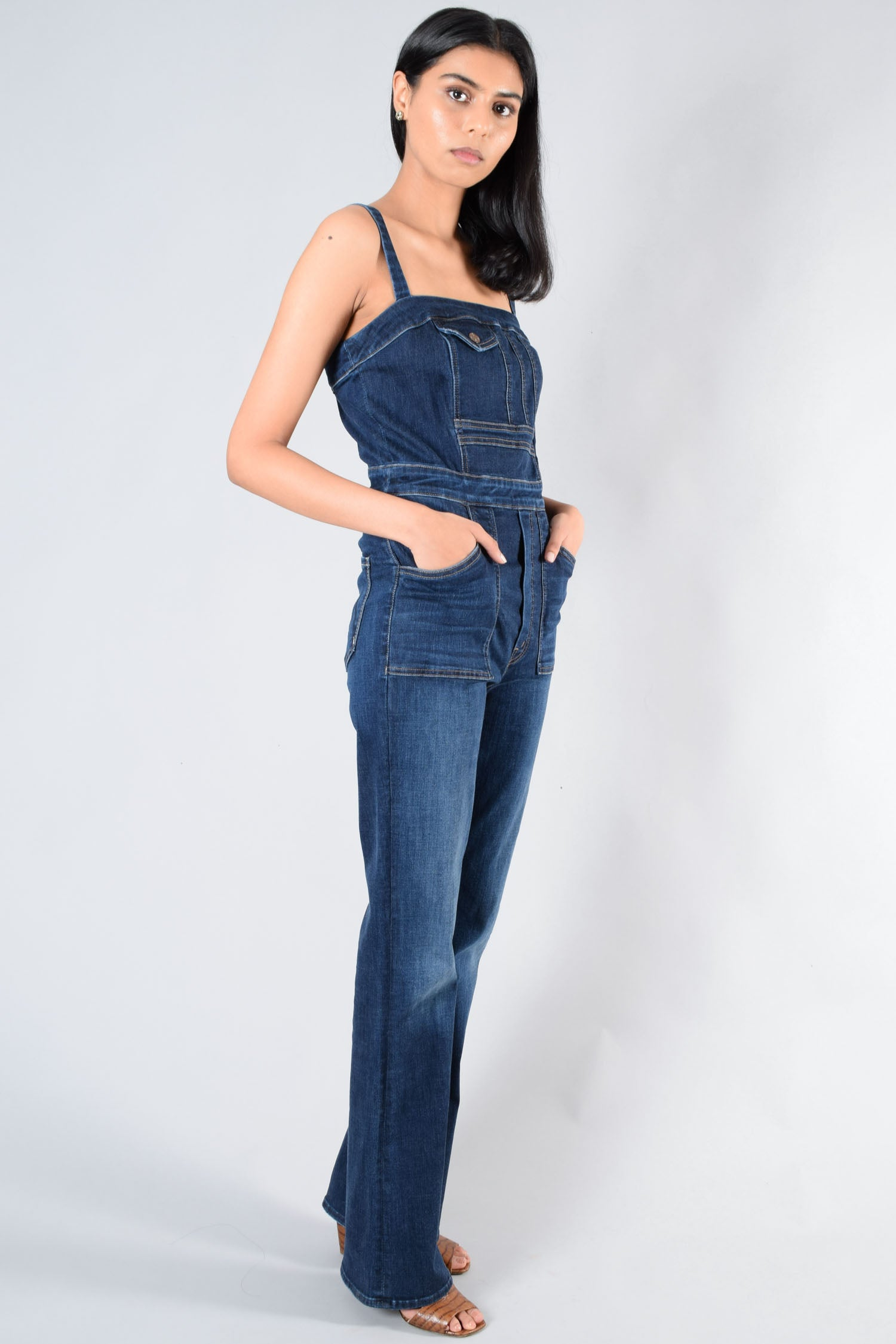Mother Denim Sleeveless Overall Size 27