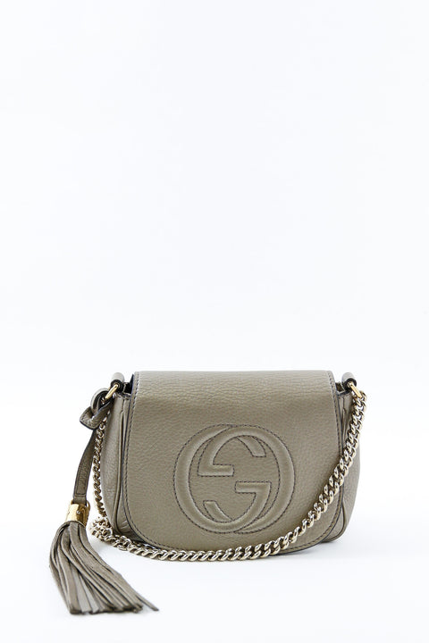 Gucci Silver Soho Chain Crossbody Bag