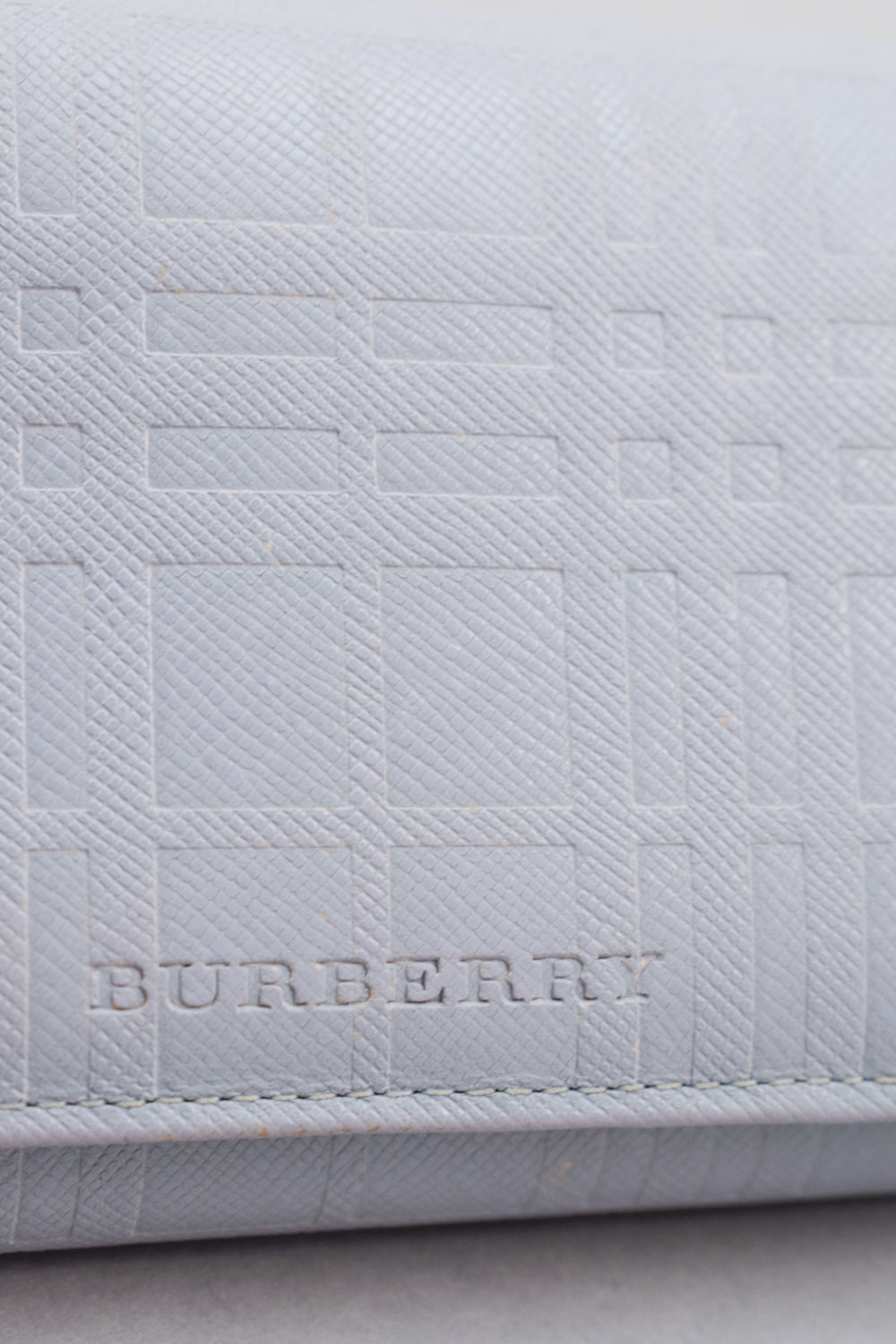 Burberry Light Grey Leather Wallet