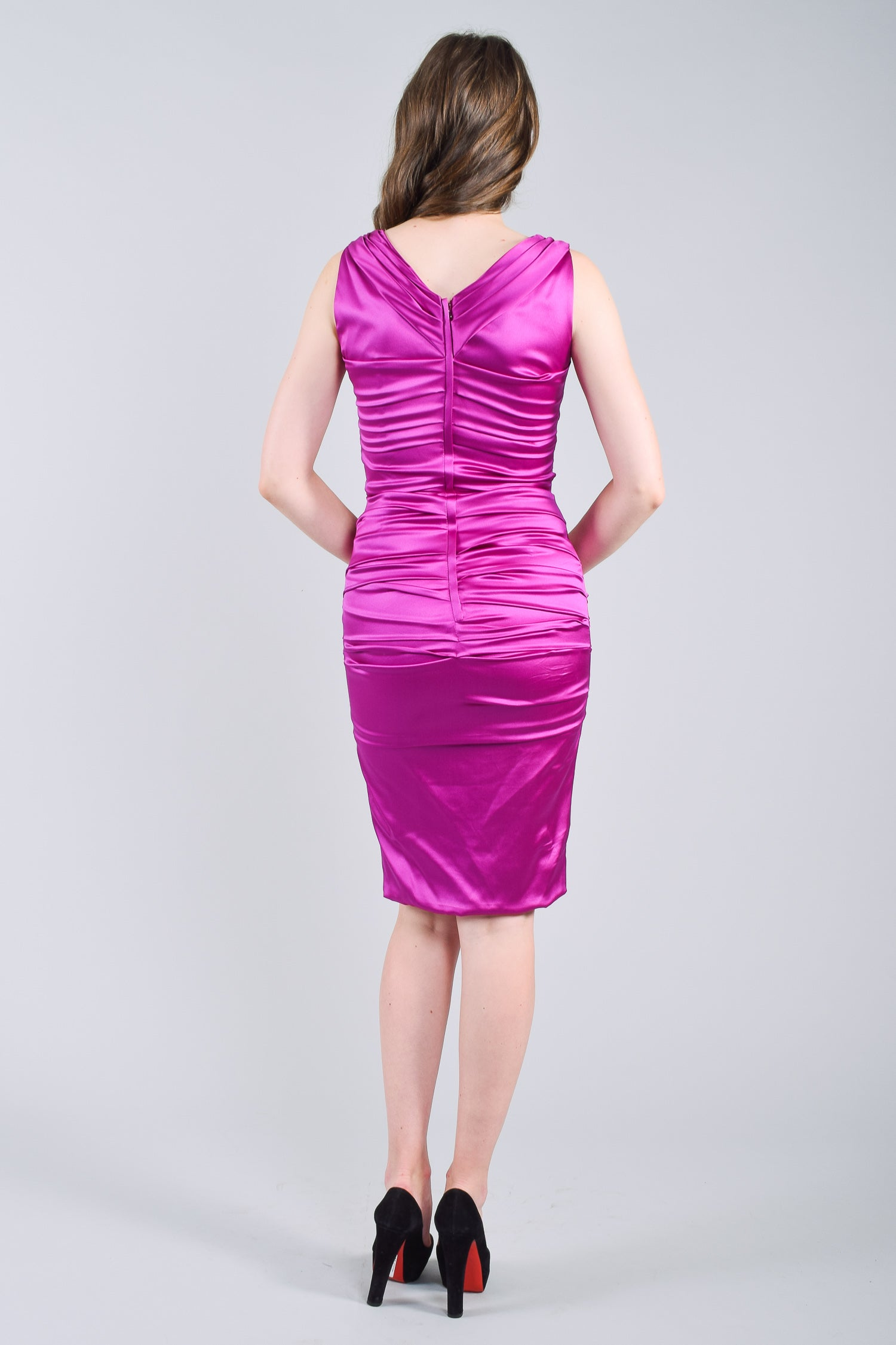 Dolce & Gabbana Purple Sleeveless Silk Dress