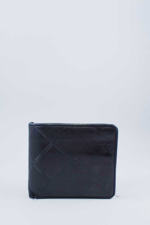 Burberry Black Leather Nova Check Bi-Fold