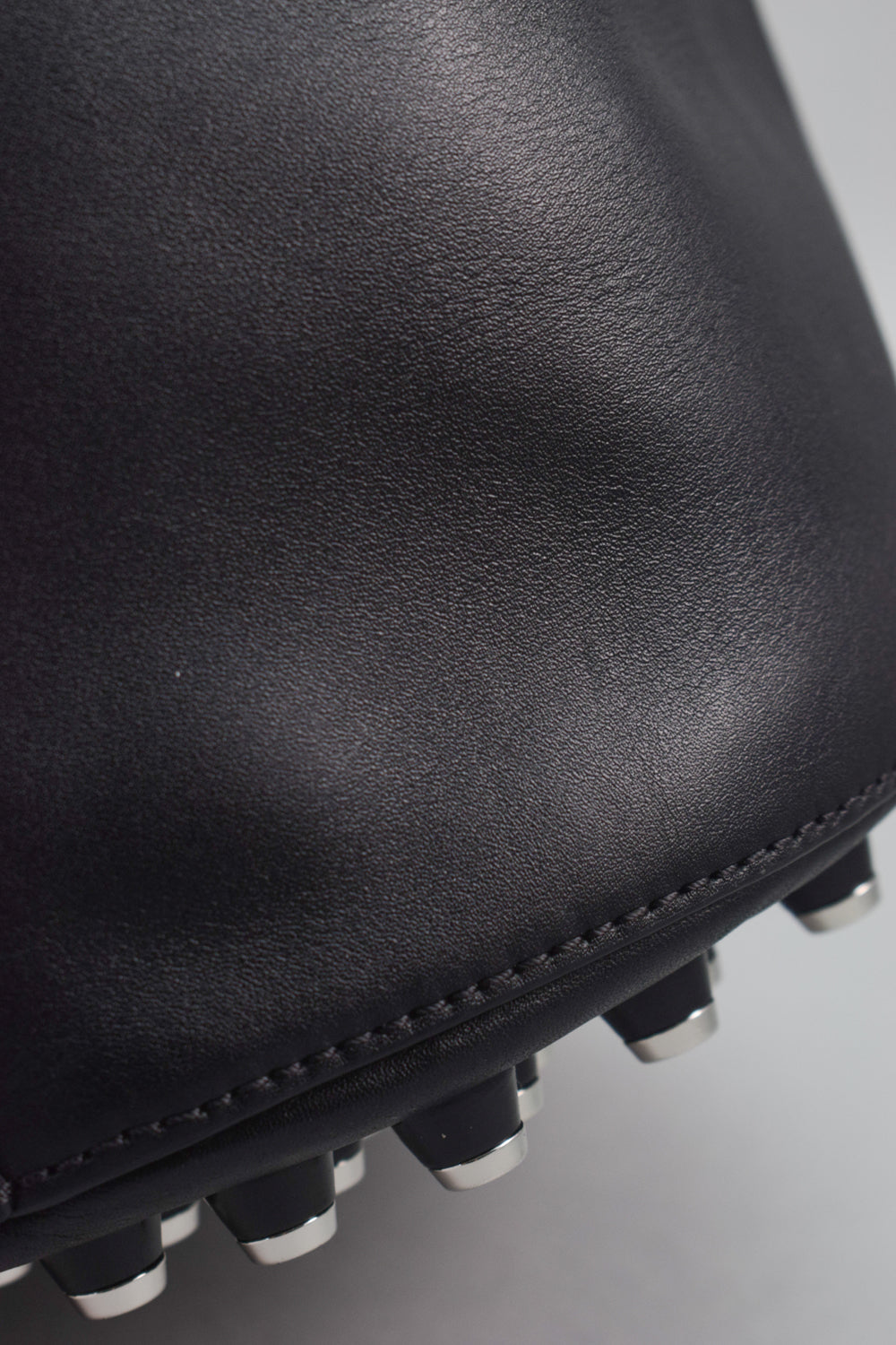 Alexander Wang Black Leather Alpha Bucket Bag
