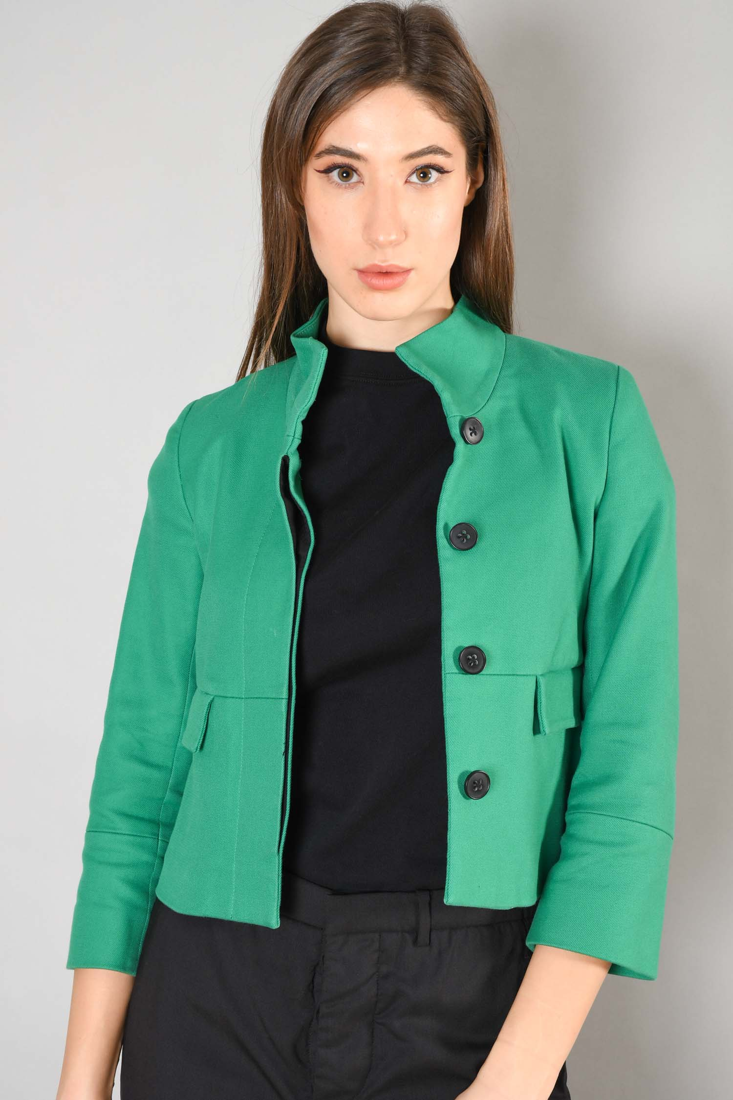 Club Monaco Green Cropped Jacket w/ Flat Pockets Size XS