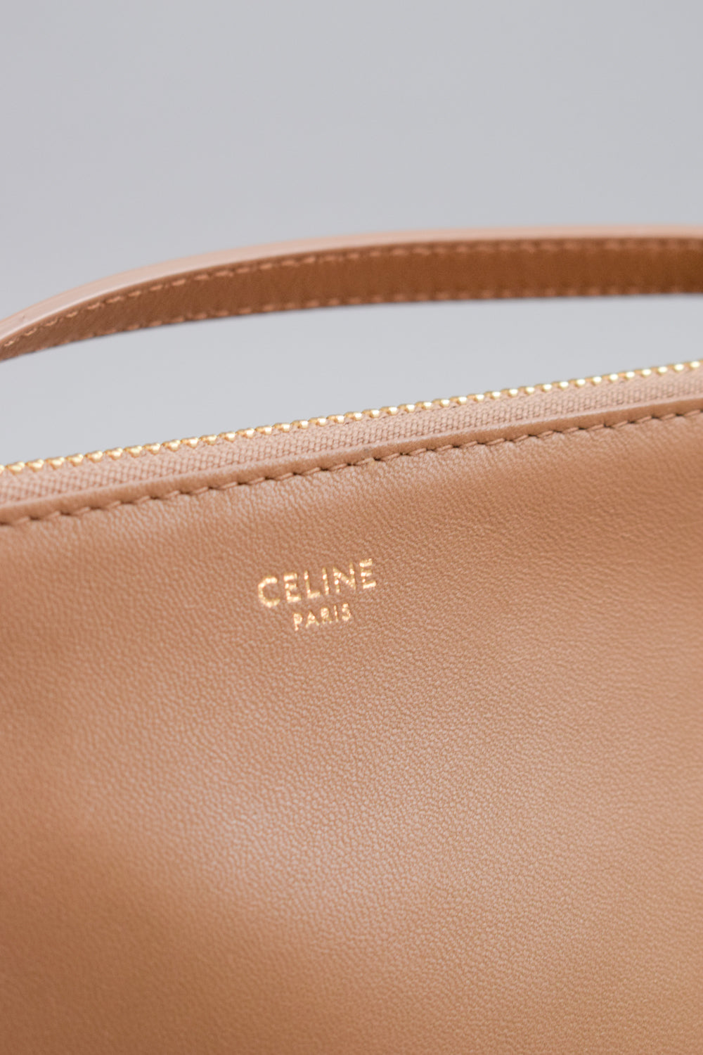 Celine Glazed Nut Small Lambskin Trio