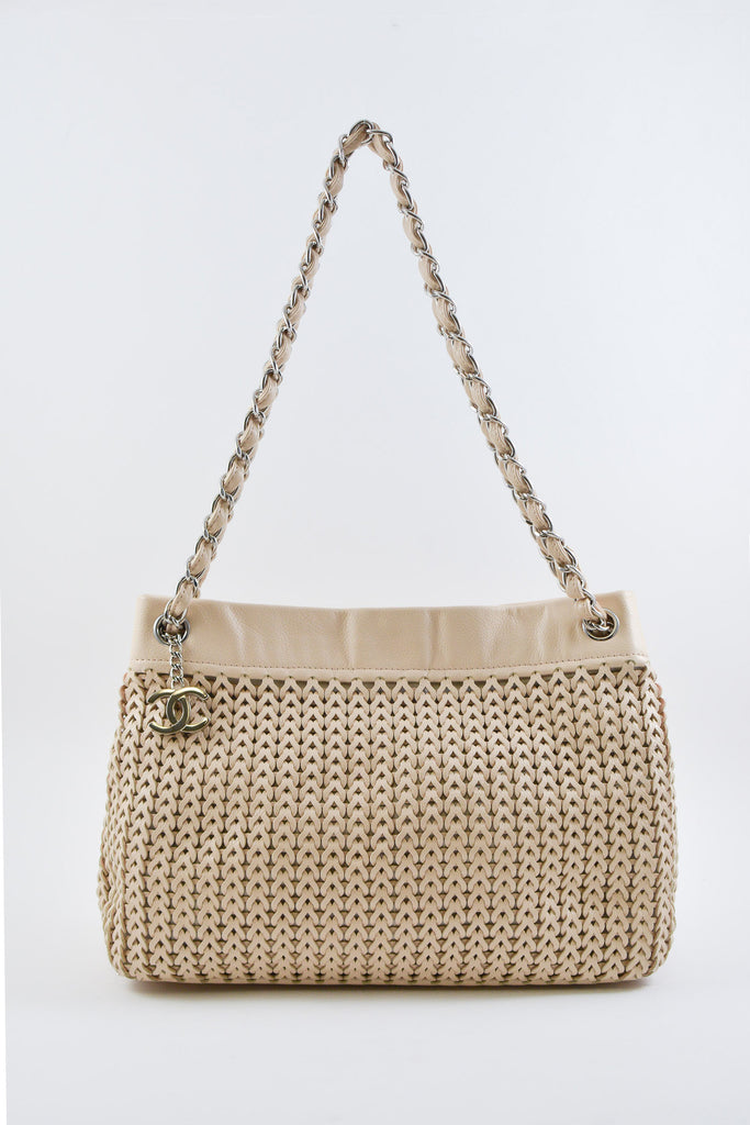 Chanel Nude Woven Tote