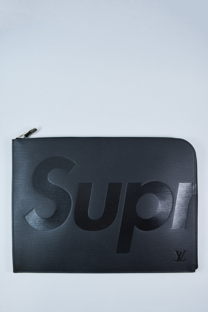 Louis Vuitton Black 'Supreme' Epi Zip Pouch