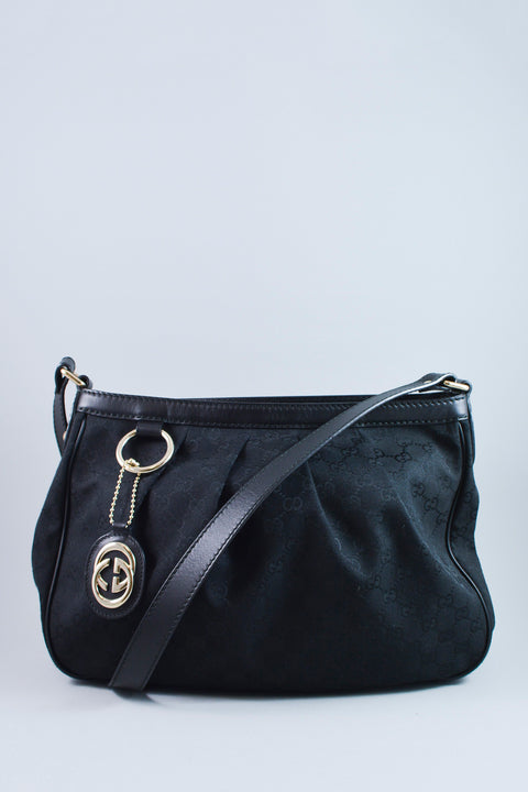 Gucci Black Monogram Canvas Crossbody
