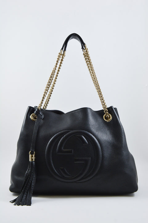Gucci Black Medium Soho Chain Shoulder Bag