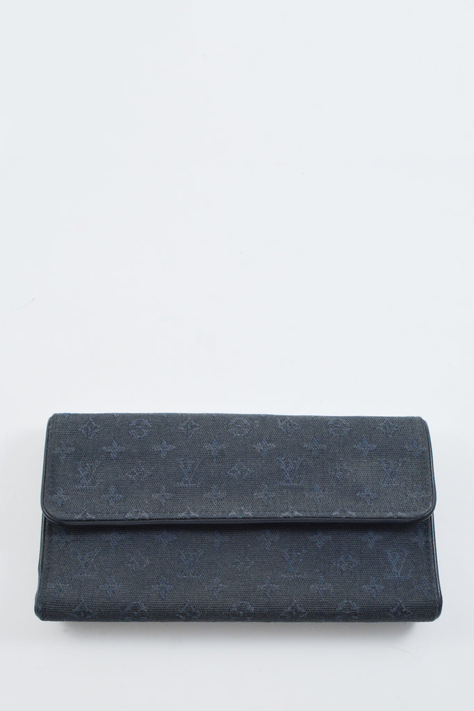 Louis Vuitton Dark Blue Fabric Monogram Wallet