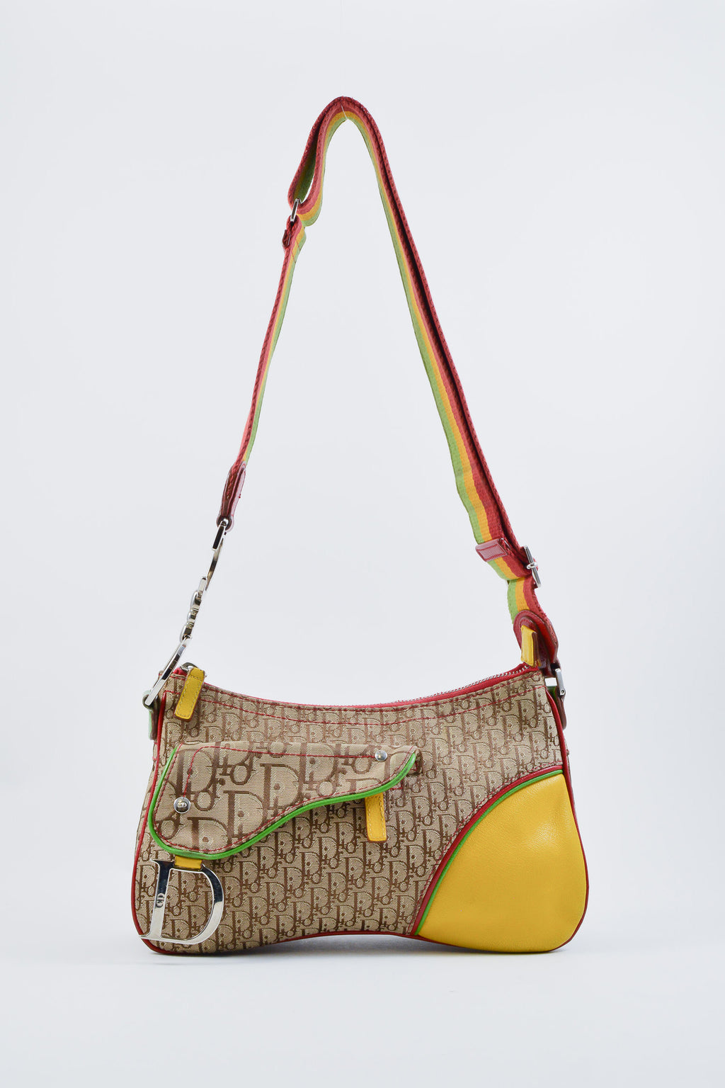 Dior Diorissimo Monogram Rasta Shoulder Bag