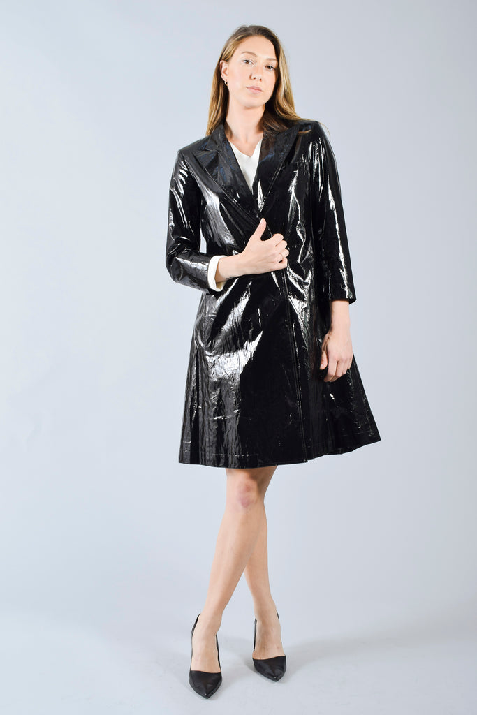 Fendi Black Light Raincoat with Bow