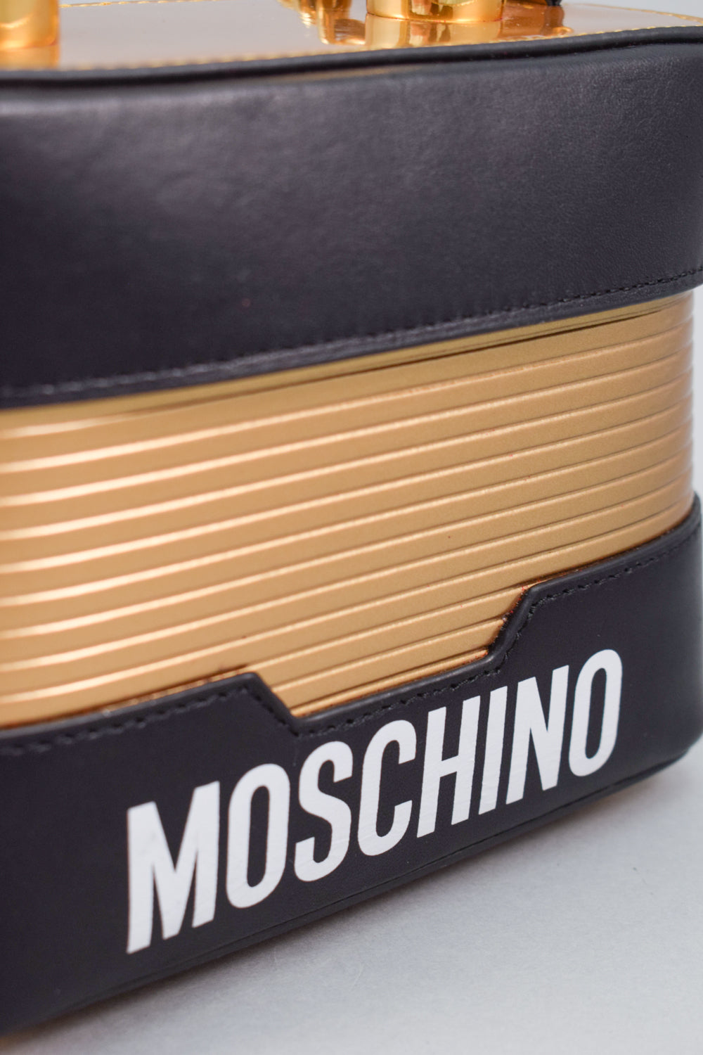 H&Moschino Black/Gold Lock Handbag