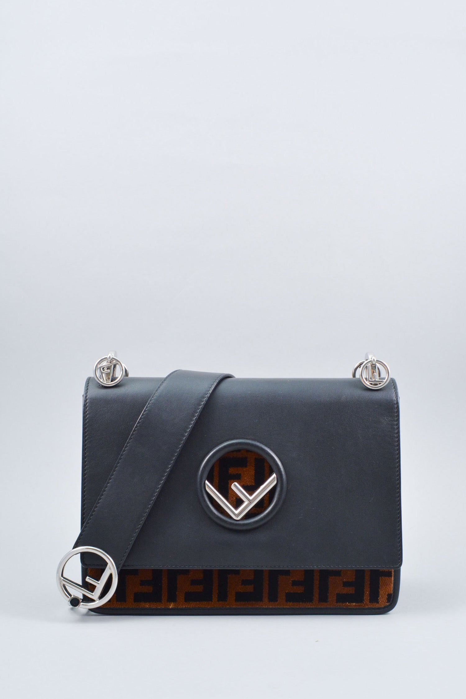 Fendi Kan I Logo Shoulder Bag