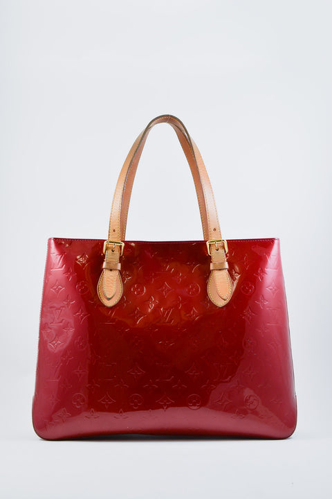 Louis Vuitton Red Vernis Houston Tote