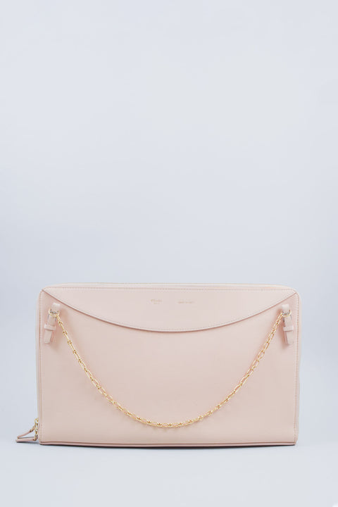 Celine Blush Pink Bag with Chain Shoulder Straps