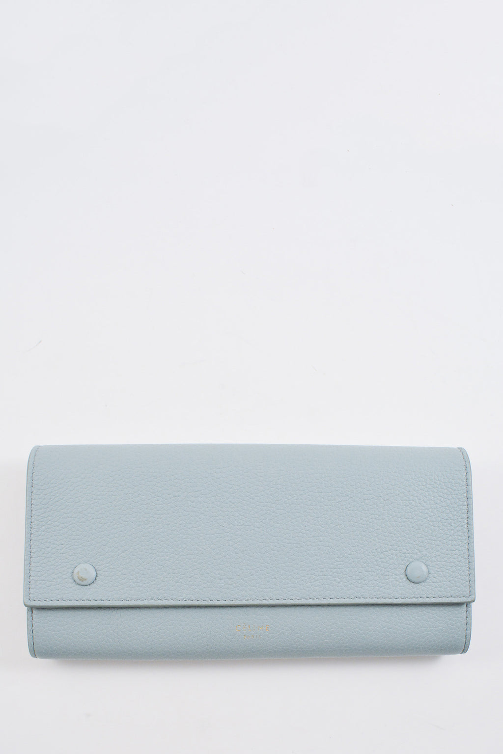 Celine Large Multifunctional Blue Wallet