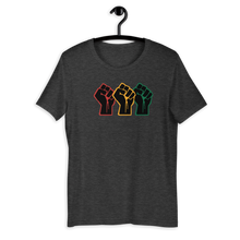 Load image into Gallery viewer, Red, Gold, Green Fists - Short-Sleeve Unisex T-Shirt