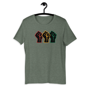 Red, Gold, Green Fists - Short-Sleeve Unisex T-Shirt