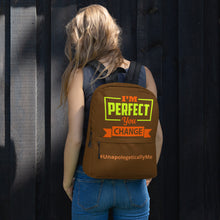 Load image into Gallery viewer, I'm Perfect - Brown Backpack