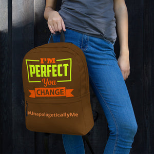 I'm Perfect - Brown Backpack