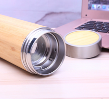 Load image into Gallery viewer, Bamboo Water Bottle with Tea Infuser