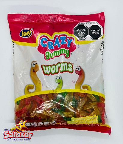 "CRAZY GUMMY WORMS JOVY -B.1KILO.- ""C/8/1"""