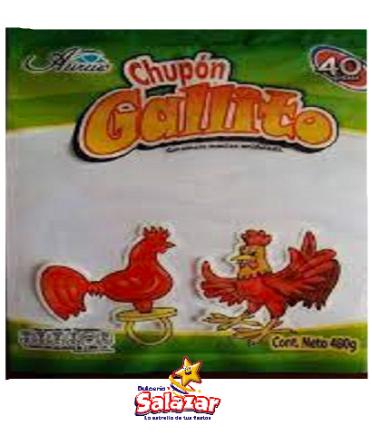 "CHUPON GALLO CARAMELO -B.-480G.-""C/20/40"""