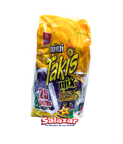 "BARCEL PACK TAKIS MINI MIX B.-875G ""C/3/25""-PZA-"