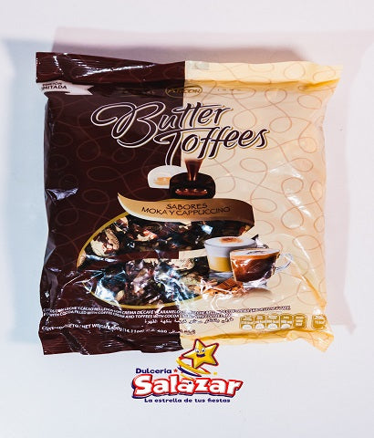 "BUTTER TOFFEES MINI MOKA Y CAPPUCCINO -B.400G.- ""C/12/100"""