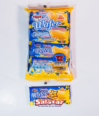 "GALLETA WAFER VAINILLA DELICIAS B.-168GR.- ""C/24/12"""