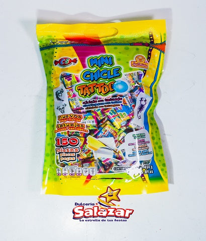 "CHICLE TATTO MINI SABORES DELICIAS -B.450G.- ""C/24/150"""