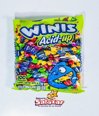 WINIS ACID-UP CARAMELO SUAVE -B.350G.- C/24/100""