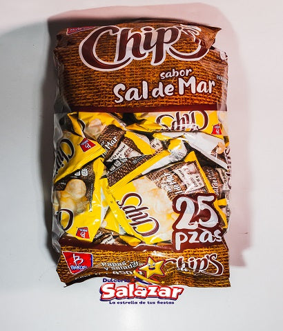 "BARCEL MINI CHIPS SAL B.-450G- ""C/6/25"""