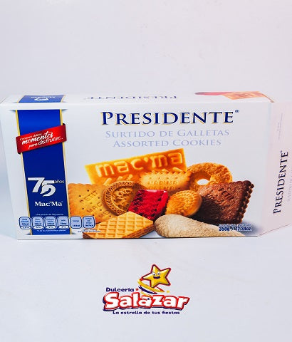 "GALLETA MAC MA PRESIDENTE SURT.-D.350G- ""C/12/350G"""