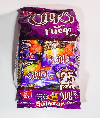 "BARCEL MINI CHIP'S FUEGO B.-450G.- ""C/6/25"""